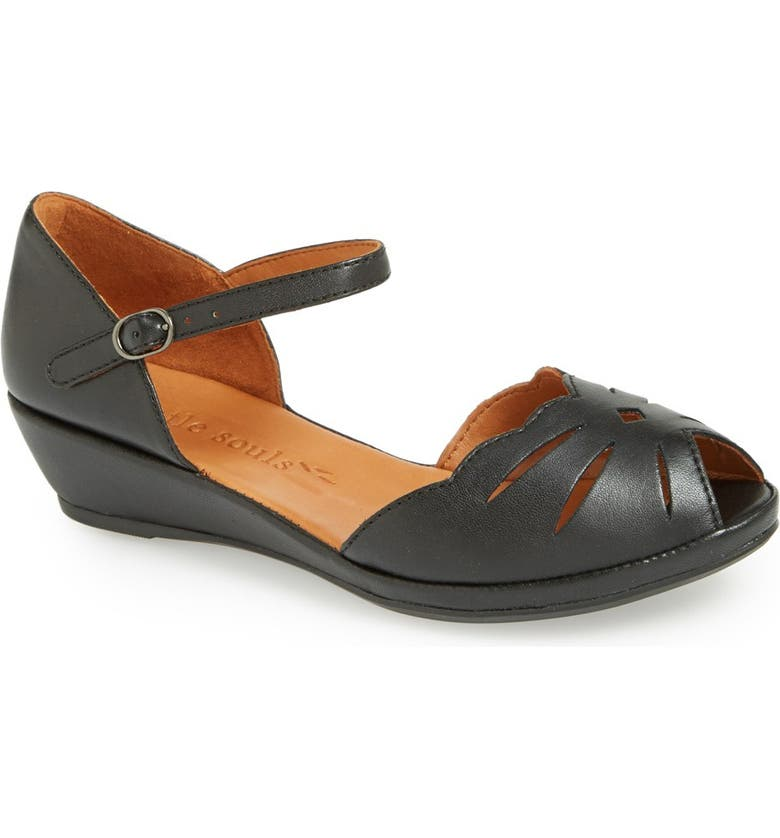 GENTLE SOULS BY KENNETH COLE 'Lily Moon' Sandal, Main, color, BLACK/ BLACK