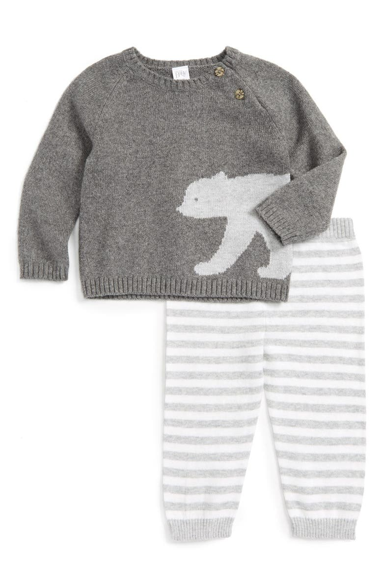 NORDSTROM BABY Knit Sweater & Pants Set, Main, color, 050