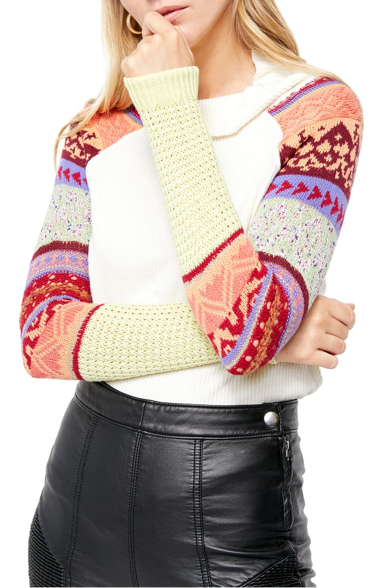 FREE PEOPLE Prism Sweater, Main, color, IVORY