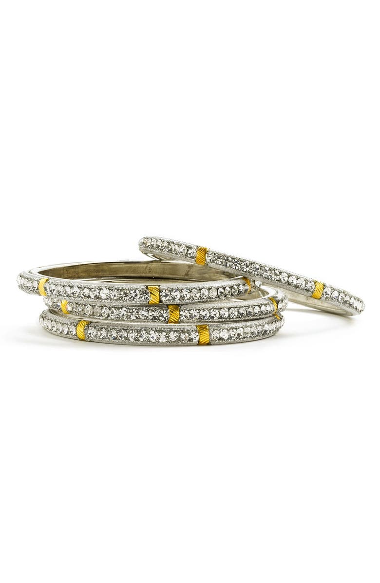 CHAMAK BY PRIYA KAKKAR Crystal Bangles, Main, color, 100