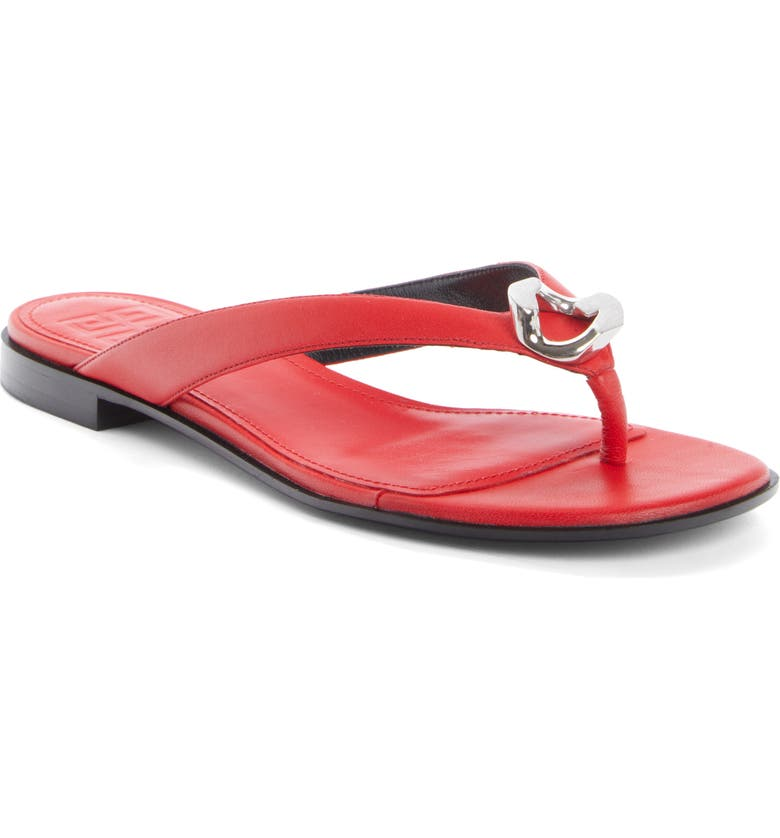 GIVENCHY G Chain Flip Flop, Main, color, RED
