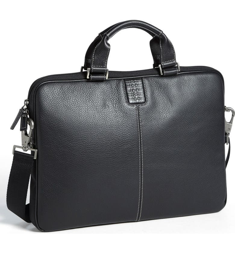 BOCONI 'Tyler' Leather Laptop Briefcase, Main, color, 001