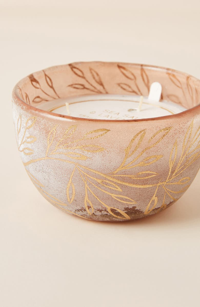 ANTHROPOLOGIE HOME Sea Salt Lavender Candle, Main, color, 650