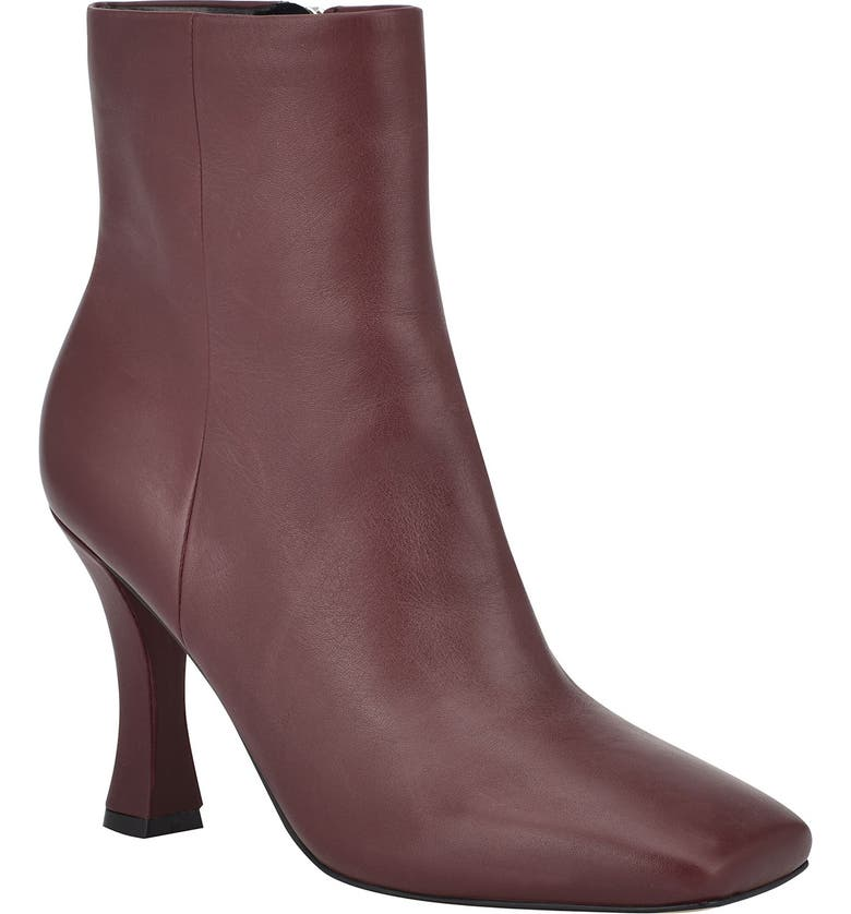 MARC FISHER LTD Cello Bootie, Main, color, DARK RED LEATHER
