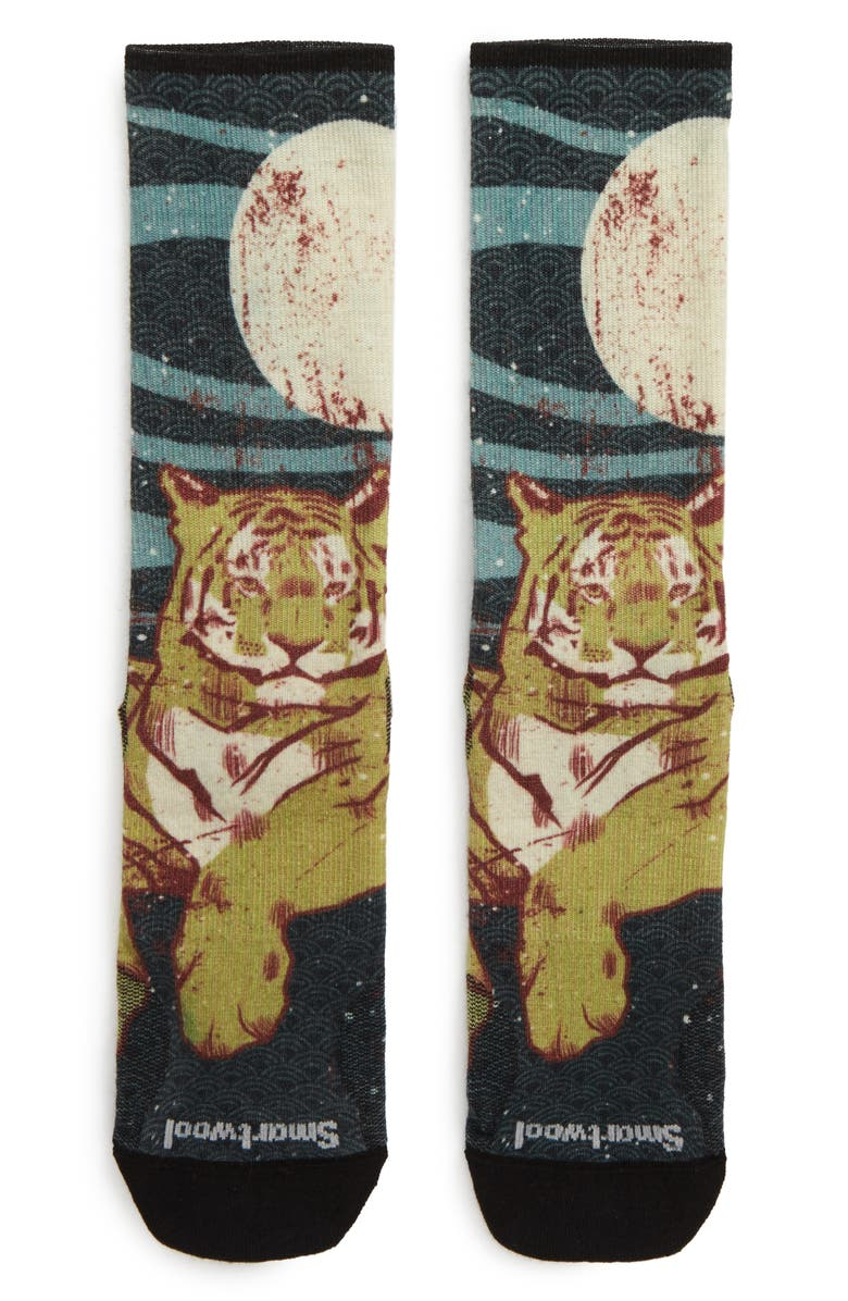 SMARTWOOL Curated Tiger Within Socks, Main, color, 700