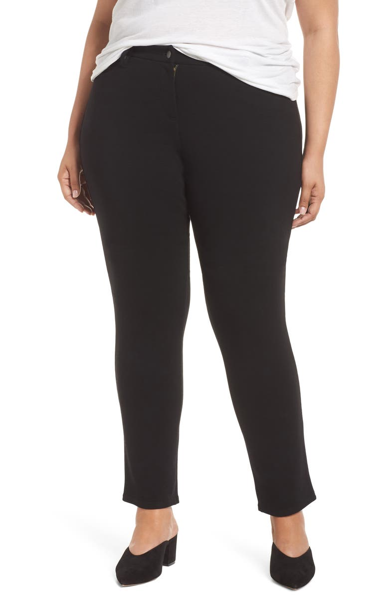 EILEEN FISHER High Rise Skinny Jeans, Main, color, 001