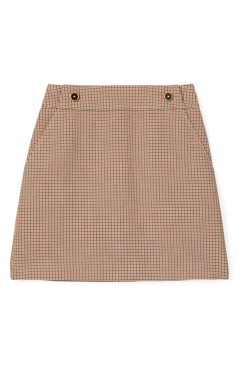 TORY BURCH Houndstooth Miniskirt, Main, color, MENS SUITING
