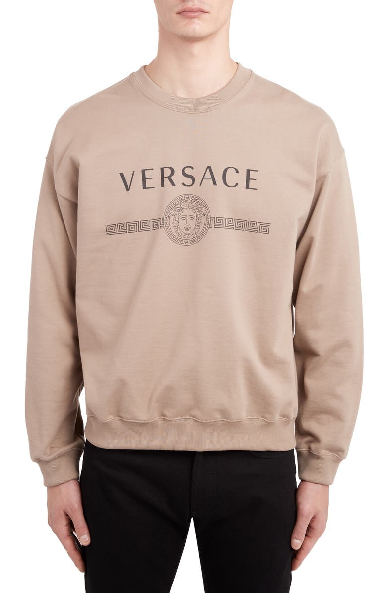 VERSACE Logo Sweatshirt, Main, color, 271
