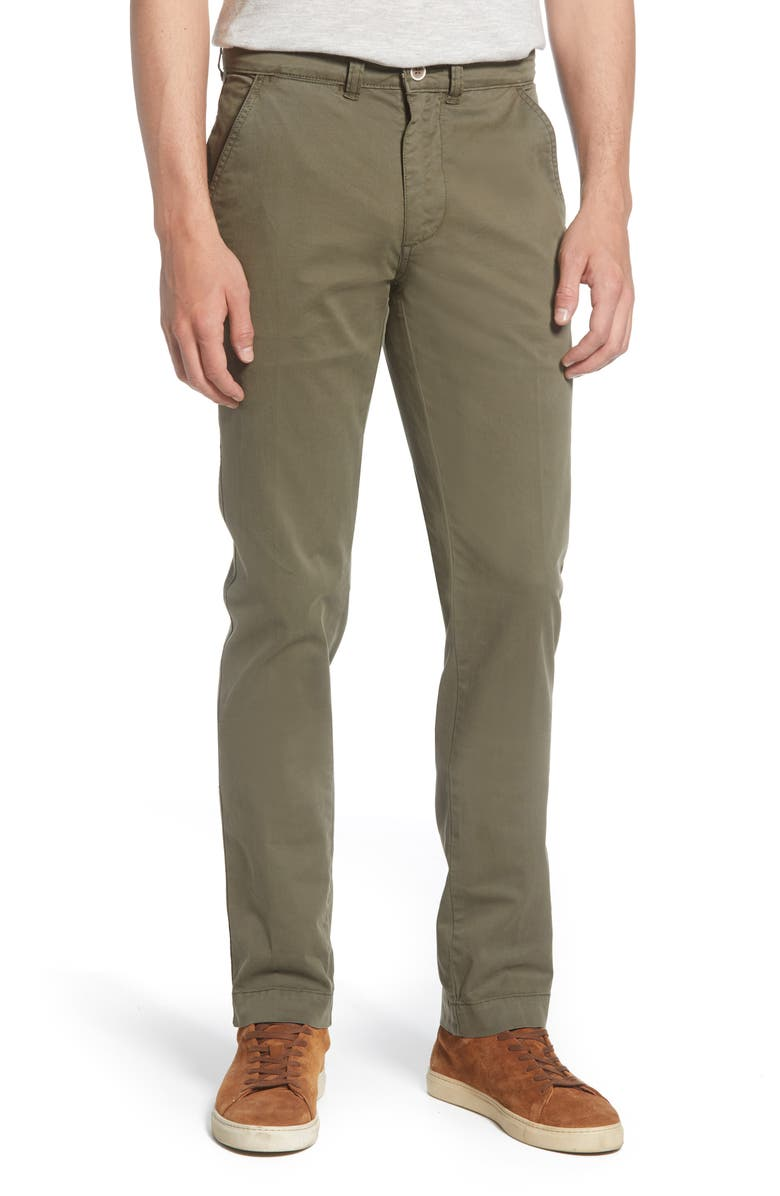 VINTAGE 1946 Slim Fit Twill Chinos, Main, color, MOSS