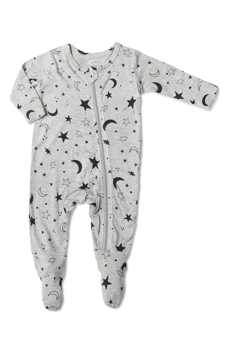 BABY GREY BY EVERLY GREY Print Footie, Main, color, TWINKLE NIGHT