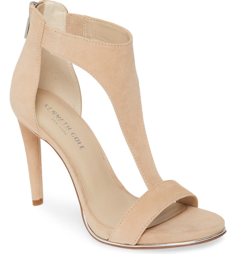 KENNETH COLE NEW YORK Brooke T-Strap Sandal, Main, color, BUFF SUEDE