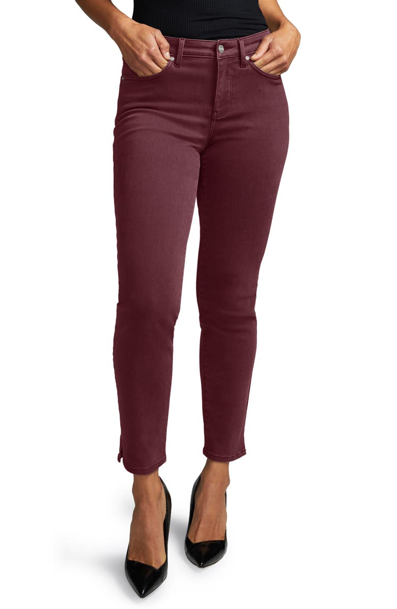 CURVES 360 BY NYDJ Slim Straight Leg Ankle Jeans, Main, color, DEEP CURRANT