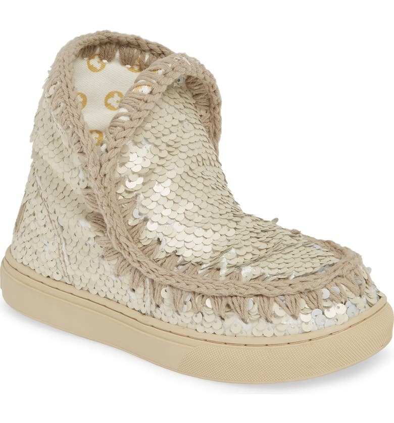 MOU Sequin Sneaker Boot, Main, color, 041