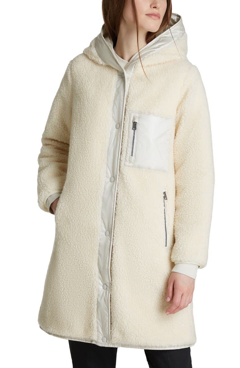 WOOLRICH Elm Faux Shearling Water Resistant Reversible Parka, Main, color, WHITE STONE