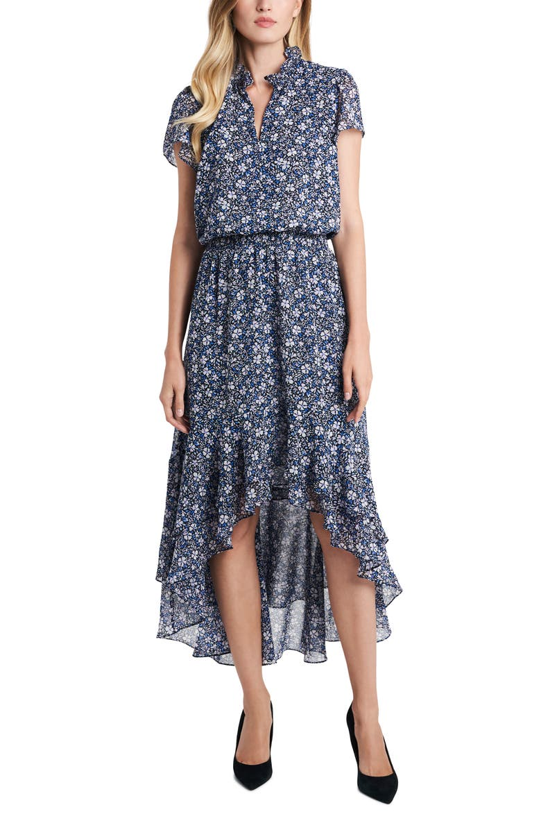 1.STATE Chateau Floral High/Low Dress, Main, color, 650