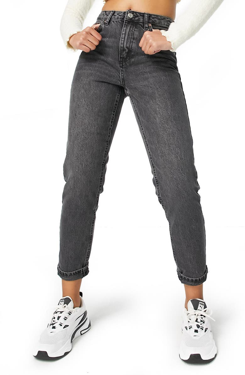 TOPSHOP Mom Jeans, Main, color, 001