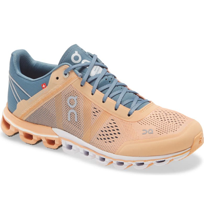 ON Cloudflow Running Shoe, Main, color, ALMOND/ GREY