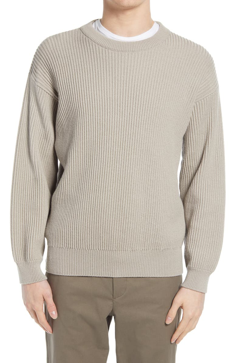 CLOSED Wool Blend Sweater, Main, color, STRATUS GREY