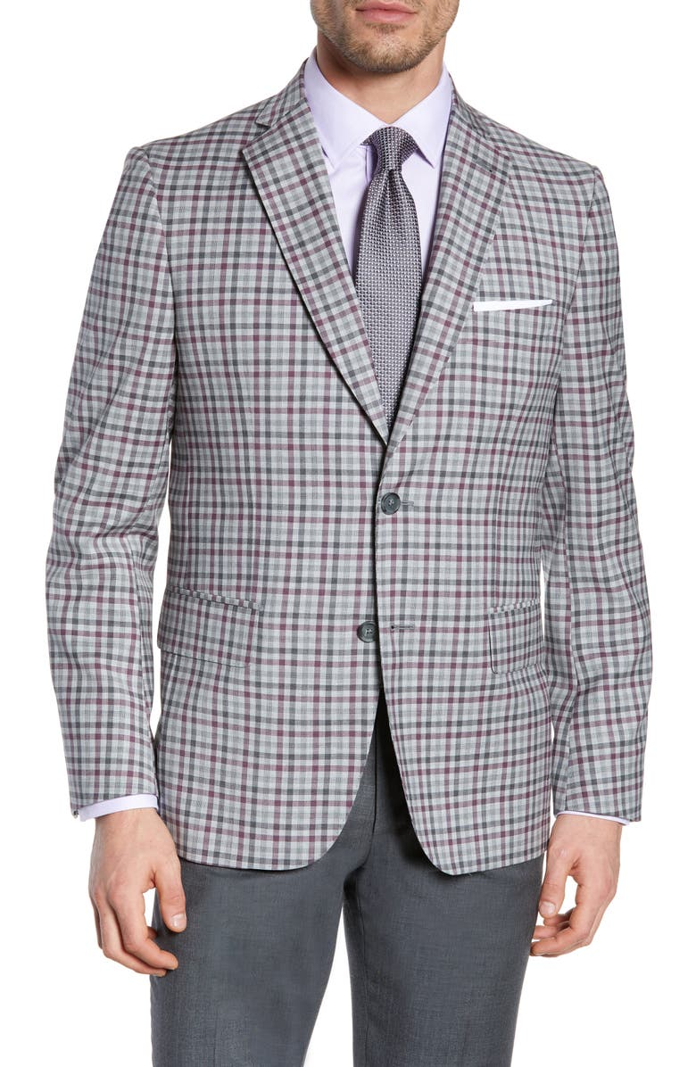 JOHN W. NORDSTROM<SUP>®</SUP> Traditional Fit Check Sport Coat, Main, color, 050