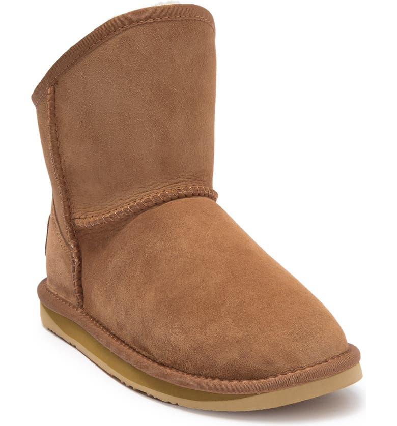 AUSTRALIA LUXE COLLECTIVE Cozy Short Genuine Shearling Boot, Main, color, CHESTNUT