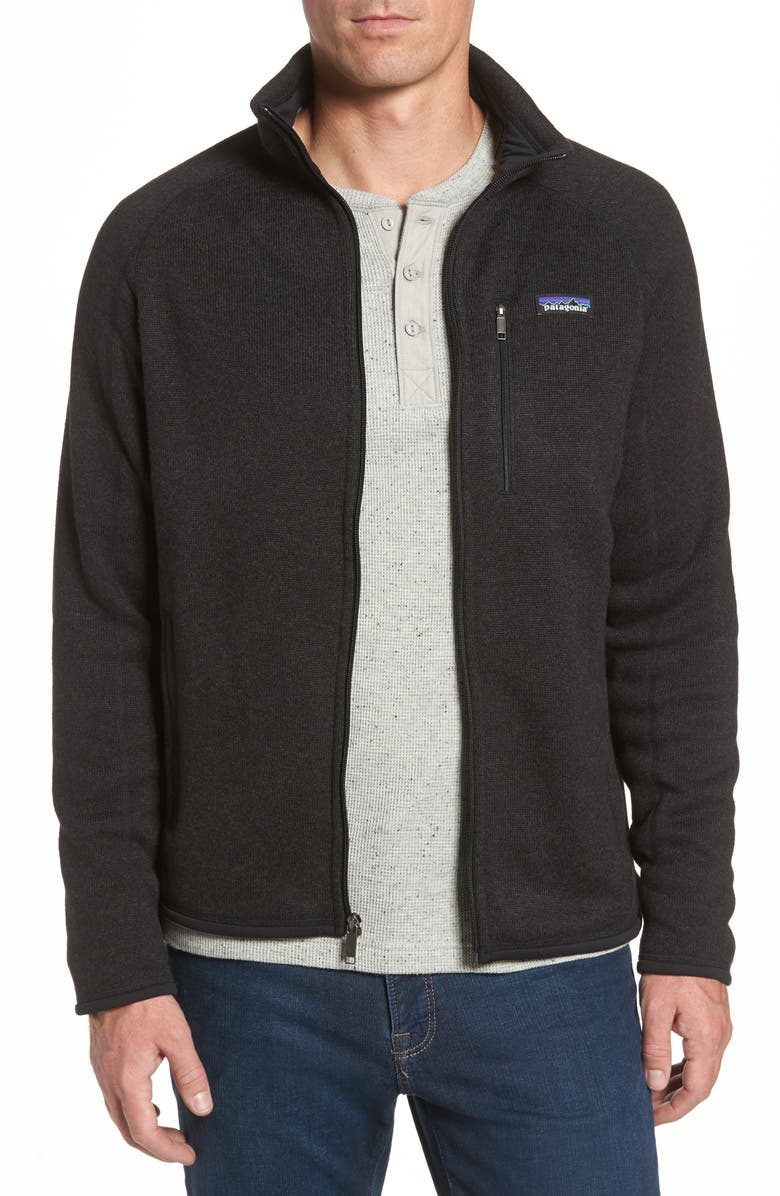 PATAGONIA Better Sweater Zip Front Jacket, Main, color, 001