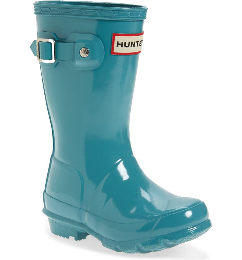 HUNTER Original Gloss Waterproof Rain Boot, Main, color, BLUE SPRUCE
