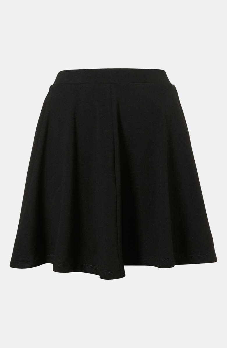 TOPSHOP 'Andie' Skater Skirt, Main, color, 001