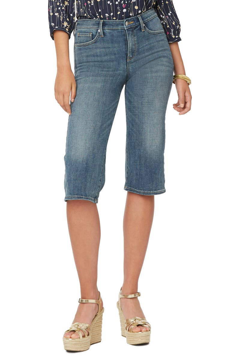 NYDJ Wide Leg Pedal Pusher Jeans, Main, color, SELINE