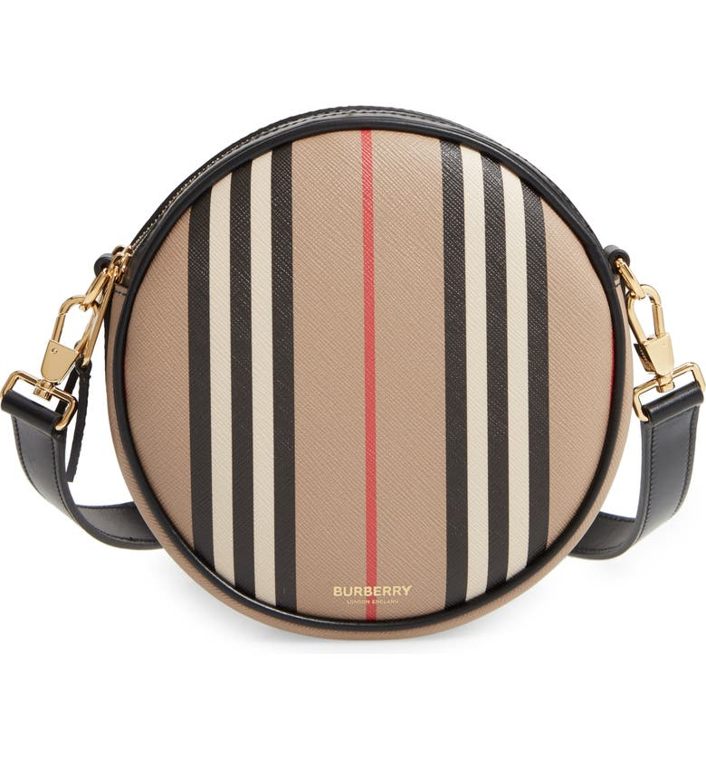BURBERRY Louise Icon Stripe E-Canvas Bag, Main, color, 250