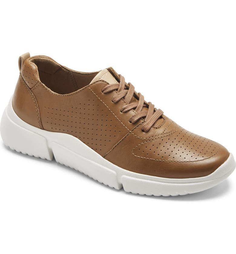 ROCKPORT Perforated Lace-Up Sneaker, Main, color, CUMIN LEATHER