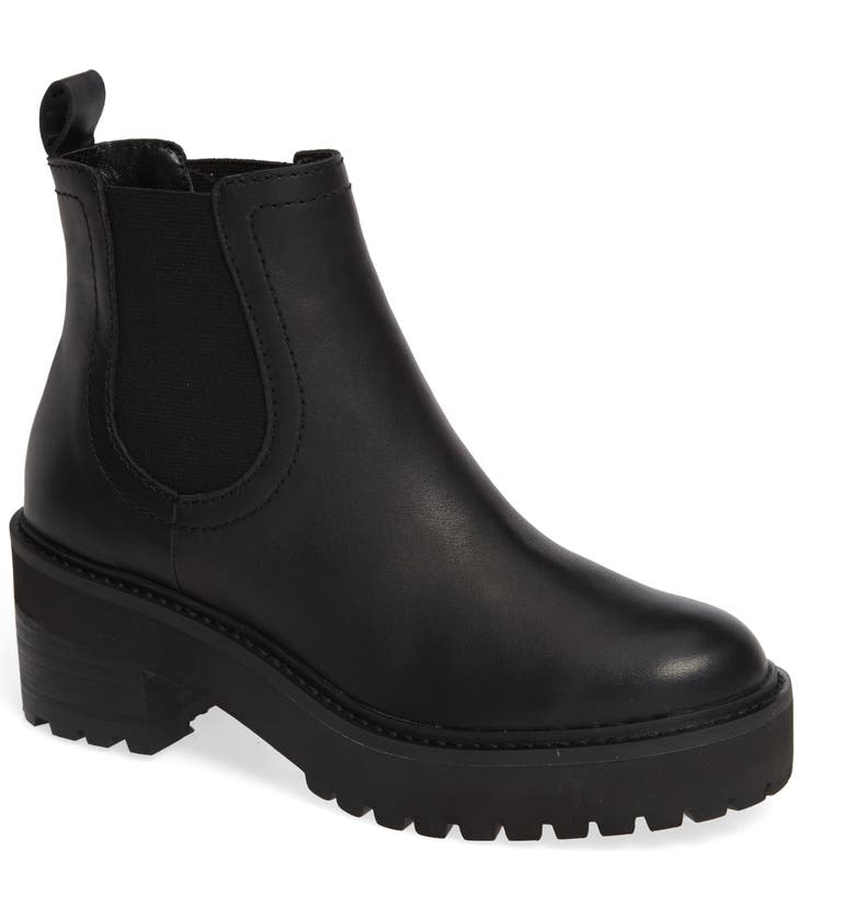 LINEA PAOLO Tate Platform Chelsea Boot, Main, color, BLACK MATTE LEATHER