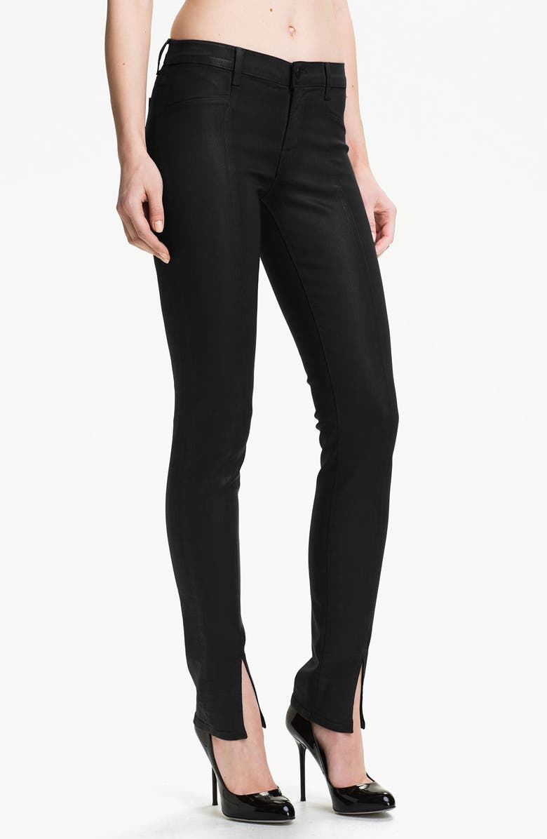 J BRAND Coated Stretch Skinny Jeans, Main, color, 007