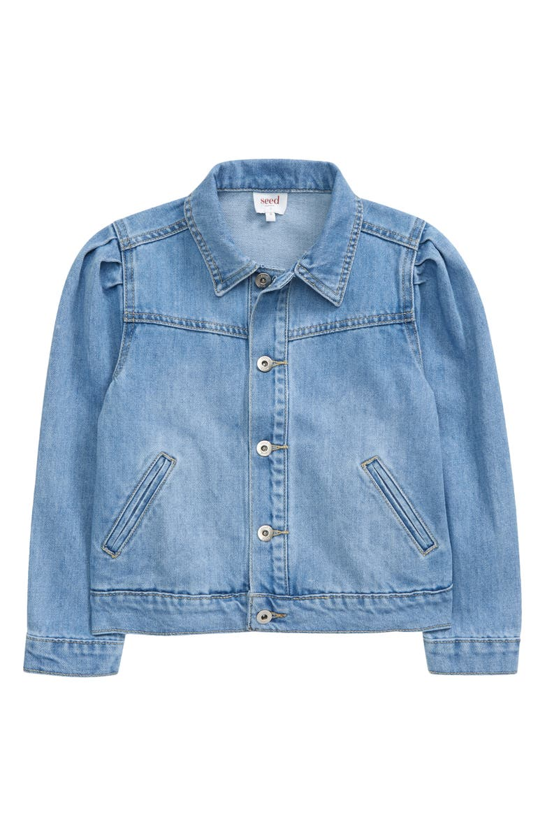 SEED HERITAGE Kids' Denim Jacket, Main, color, BLEACHED BLUE