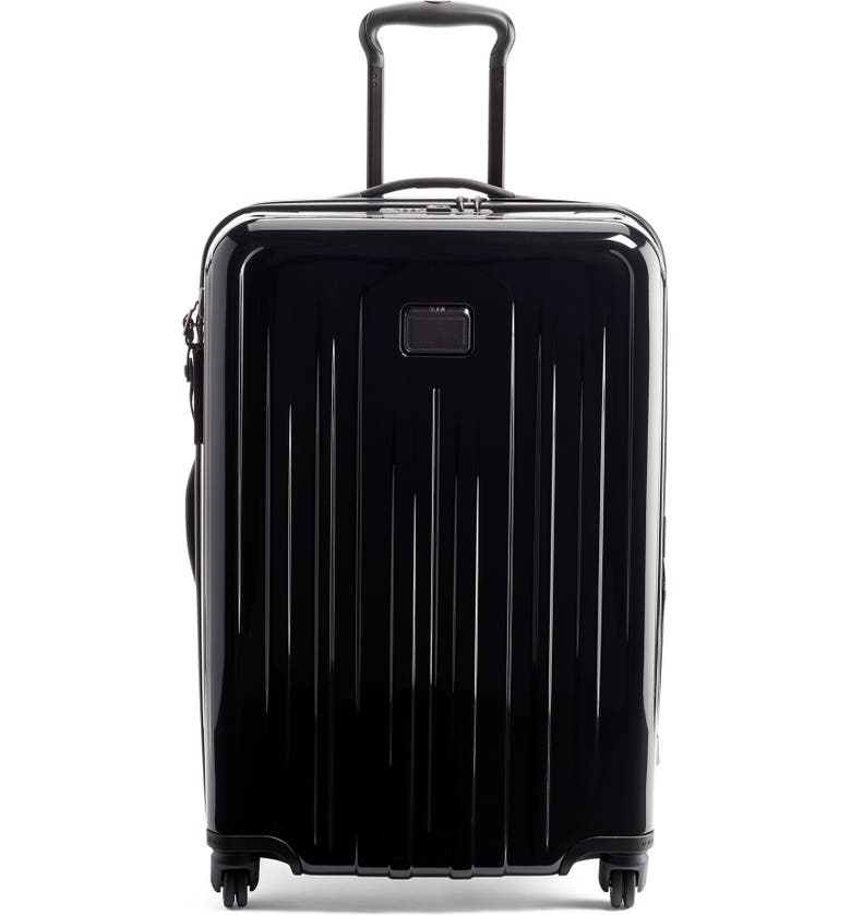 TUMI V4 Collection 26-Inch Expandable Spinner Packing Case, Main, color, BLACK