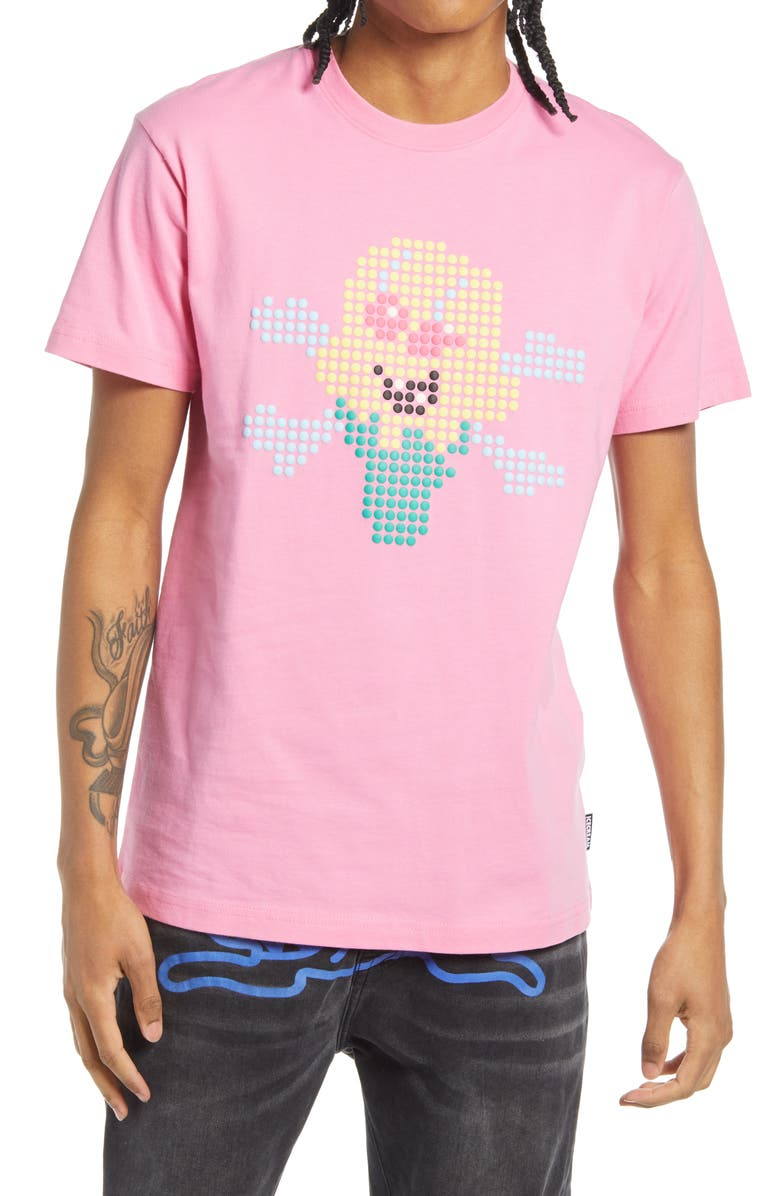 ICECREAM Dots Graphic Tee, Main, color, ROSE BLOOM