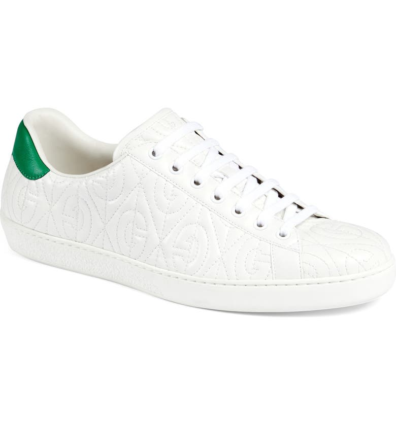 GUCCI Quilted Sneaker, Main, color, GREAT WHITE