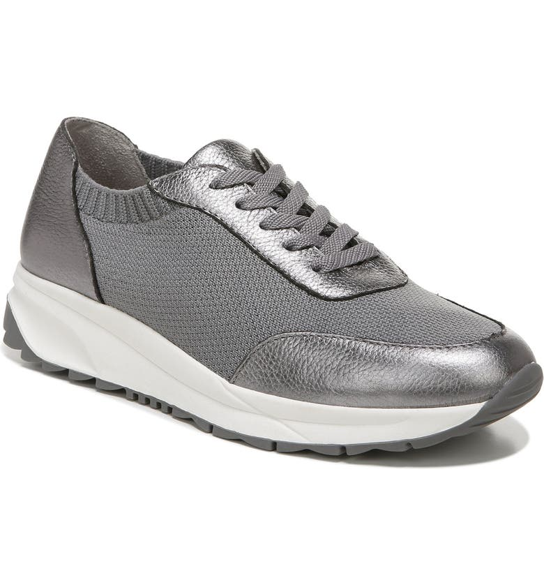 NATURALIZER Sibley Sneaker, Main, color, PEWTER KNIT LEATHER