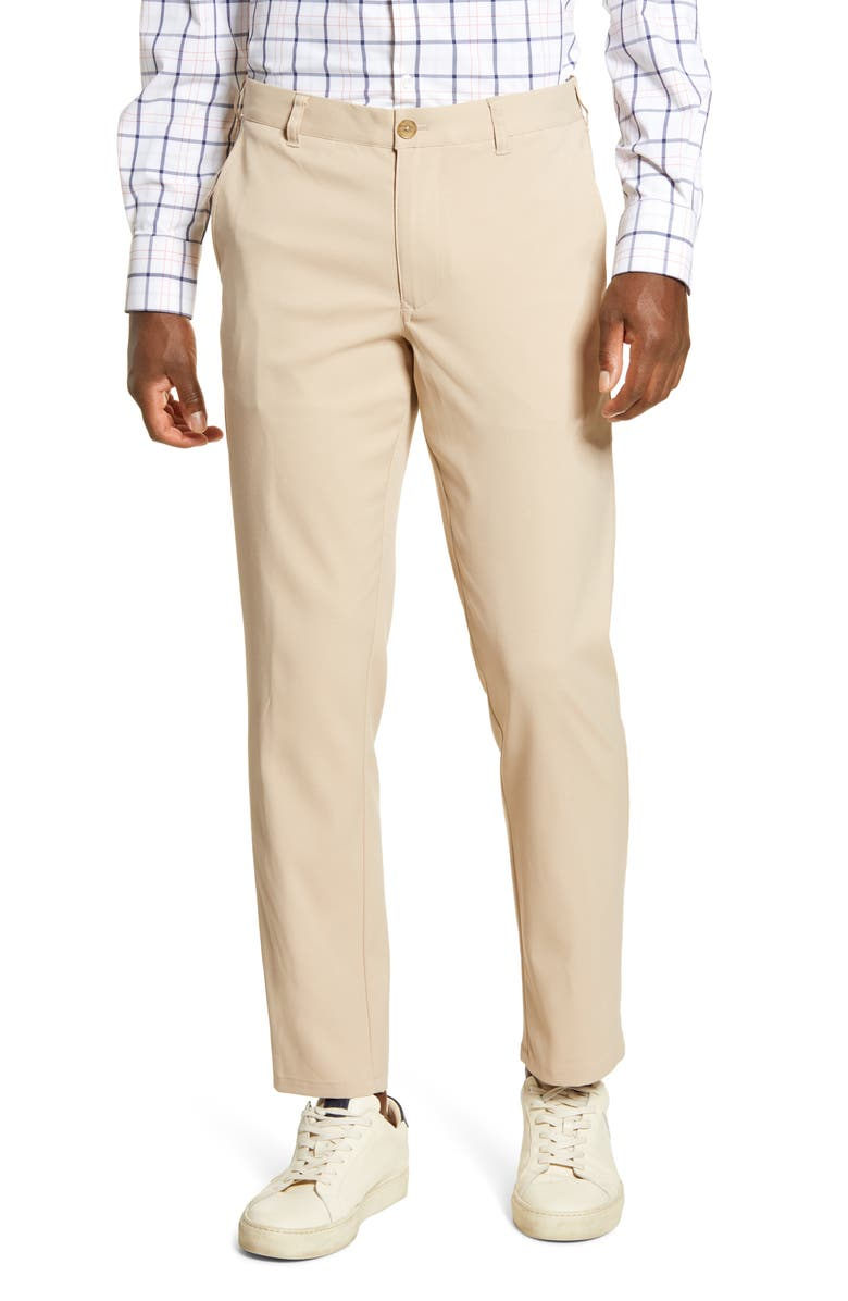 MIZZEN+MAIN Baron Trim Fit Performance Chino Pants, Main, color, 206