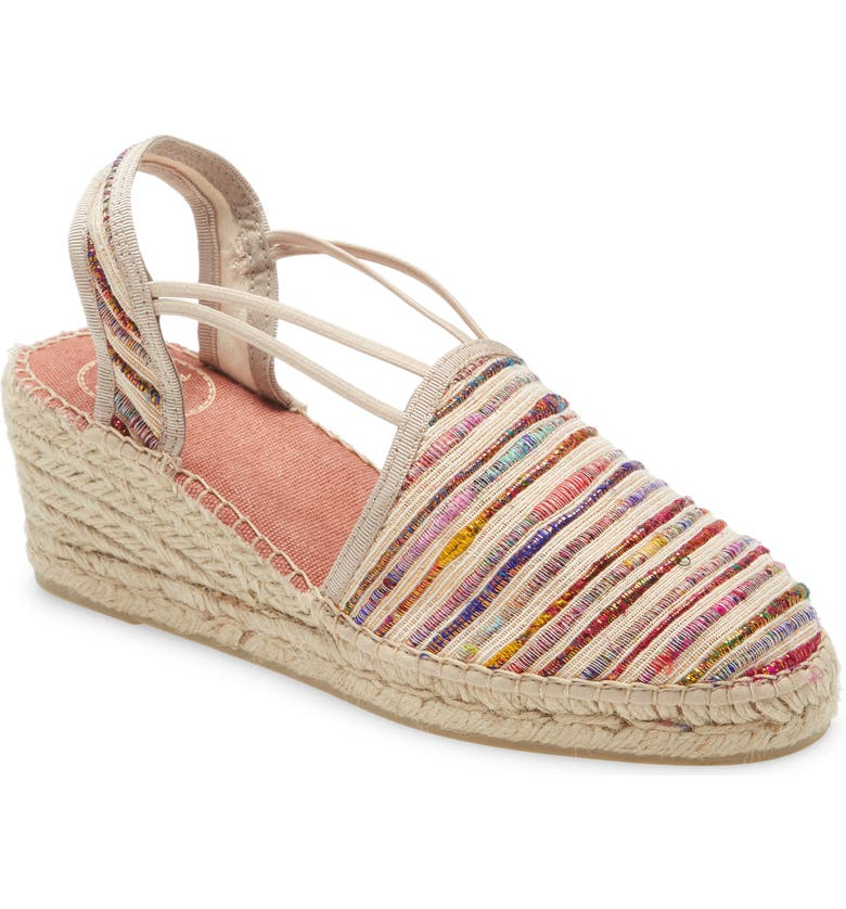 TONI PONS Tania Espadrille Wedge, Main, color, MULTI FABRIC