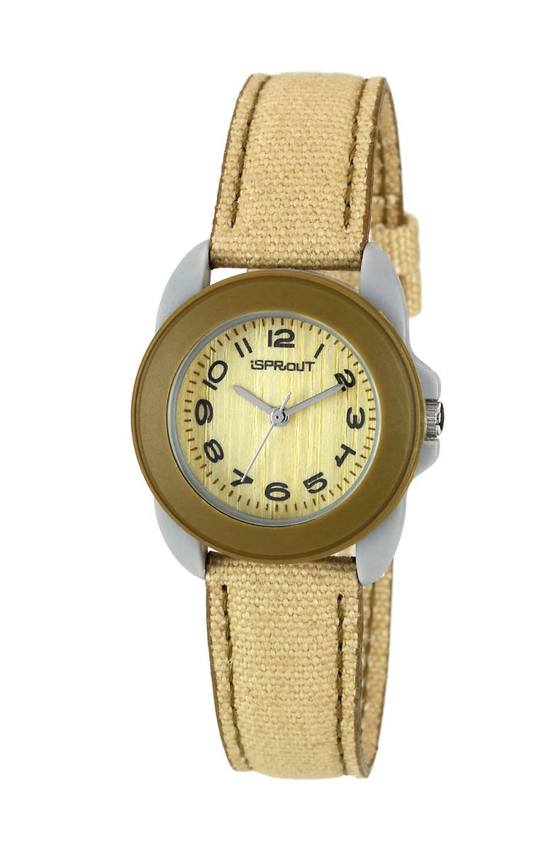 SPROUT<SUP>™</SUP> WATCHES Round Case Watch, 22mm, Main, color, TAN