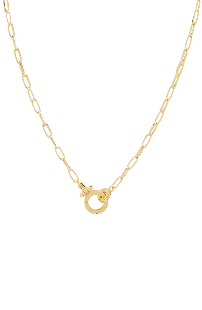 GORJANA Parker Mini Chain Link Necklace, Main, color, GOLD