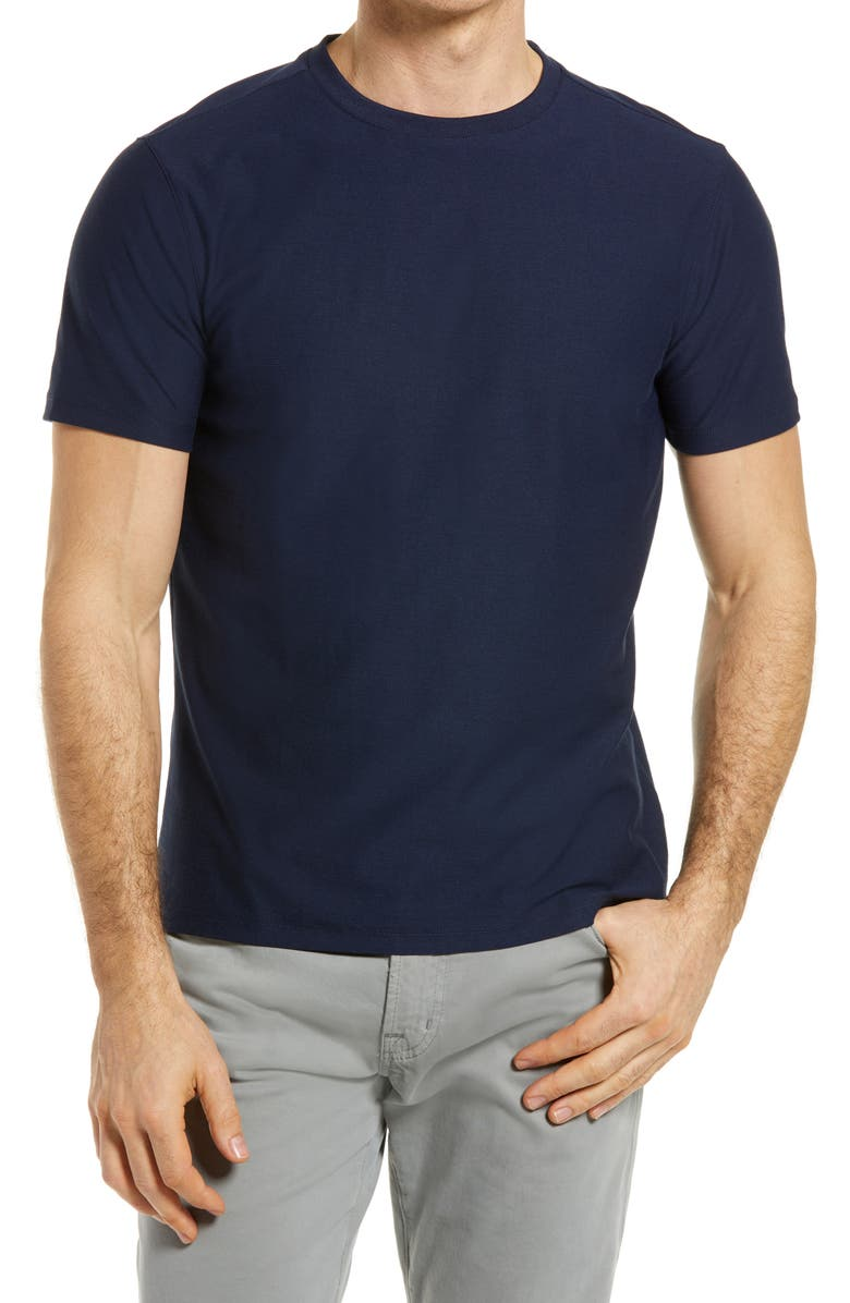 ROBERT BARAKETT Hickman Solid T-Shirt, Main, color, BLUE NIGHT