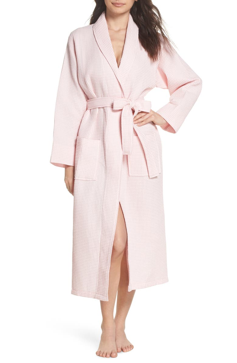 PAPINELLE Waffle Knit Cotton Robe, Main, color, ICE PINK