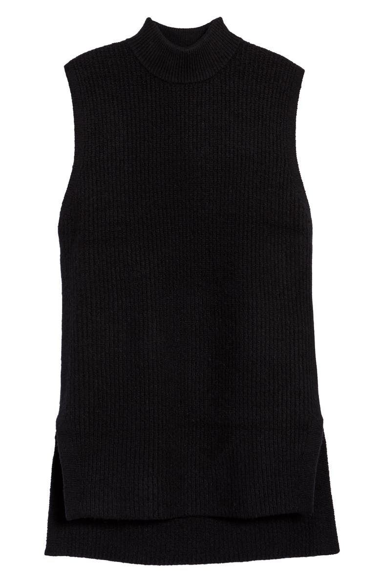 TREASURE & BOND Mock Neck Sleeveless Sweater, Main, color, BLACK