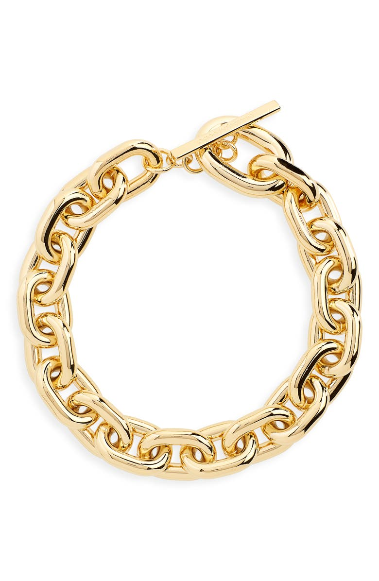 PACO RABANNE Extra Large Link Collar Necklace, Main, color, 710