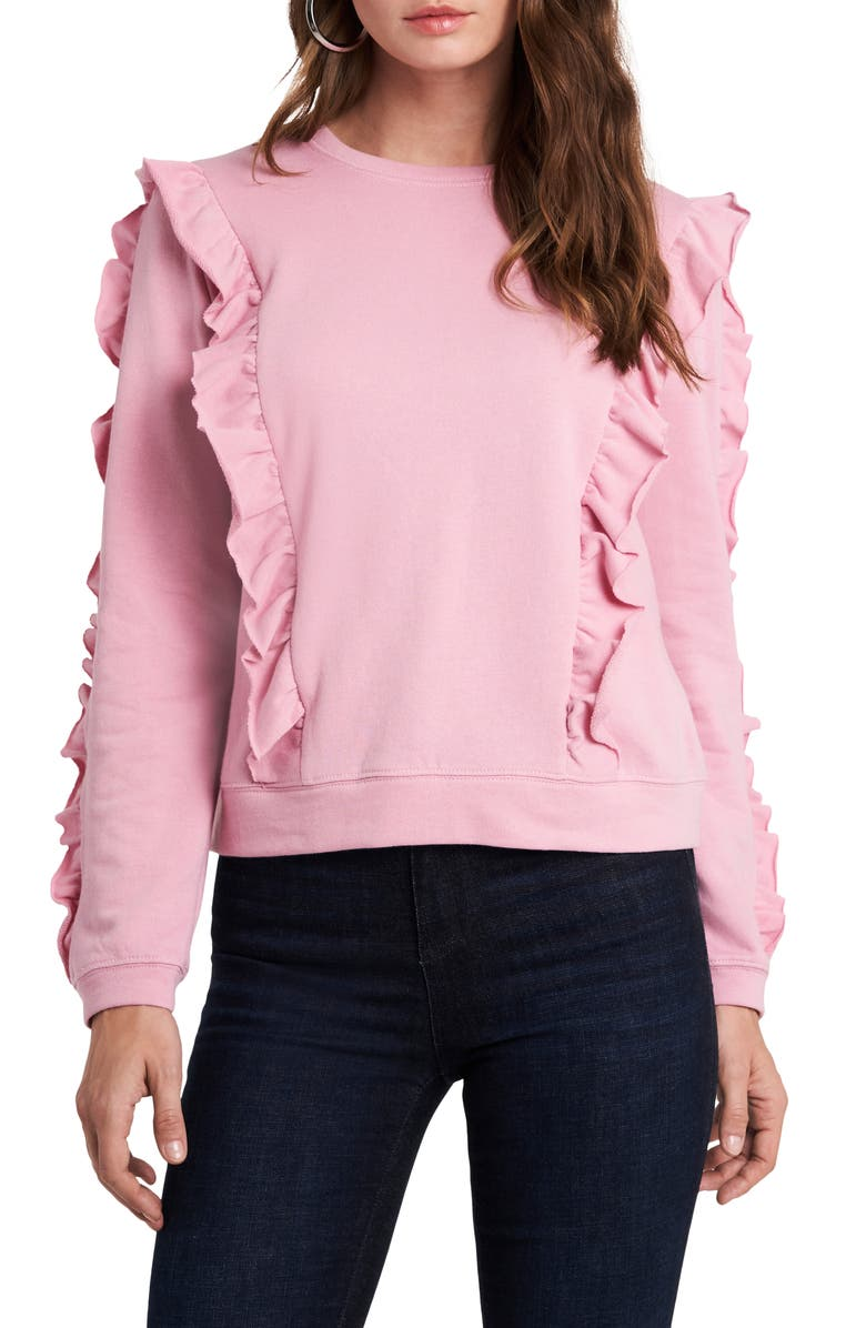 1.STATE Loop Back Terry Top, Main, color, ROSE PINK