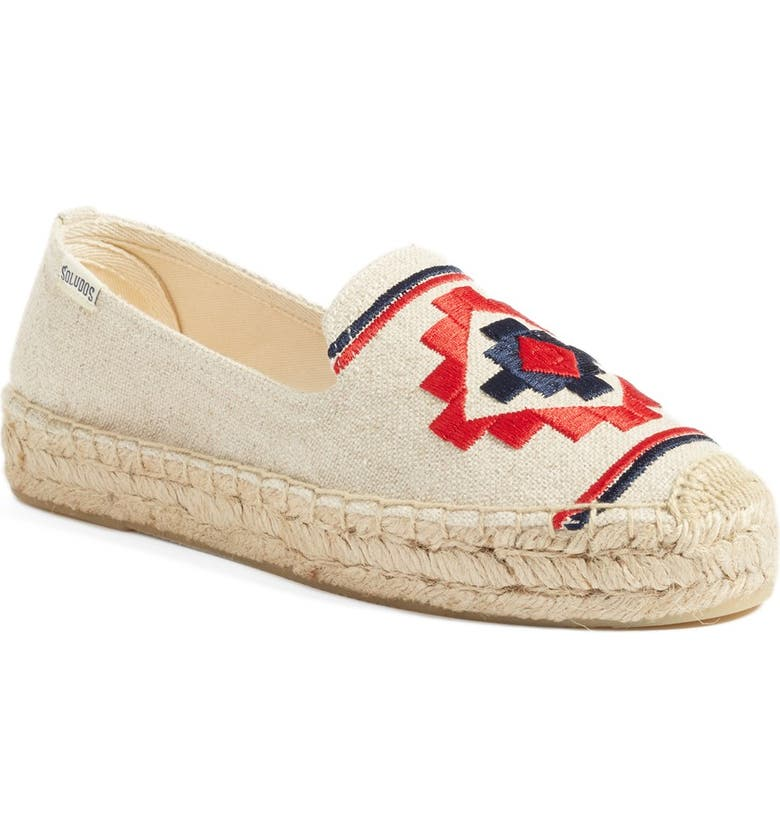 SOLUDOS Embroidered Espadrille, Main, color, 270