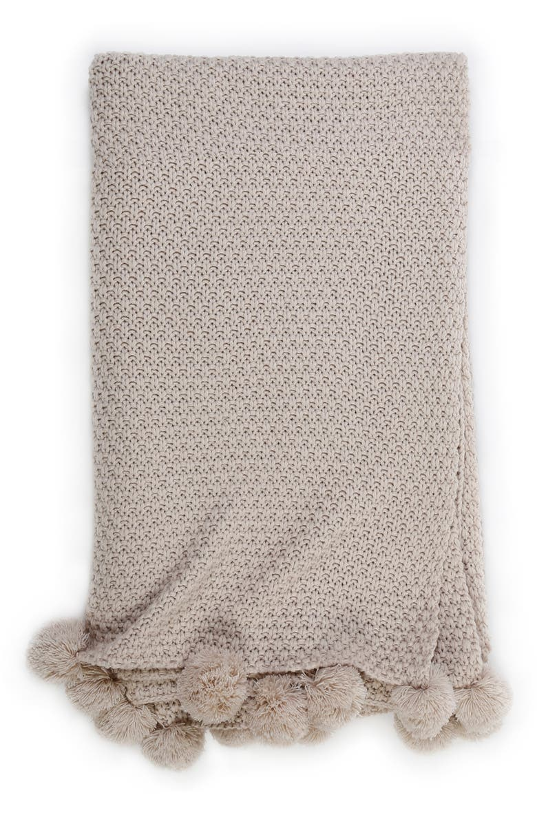 POM POM AT HOME Riley Oversize Throw, Main, color, TAUPE