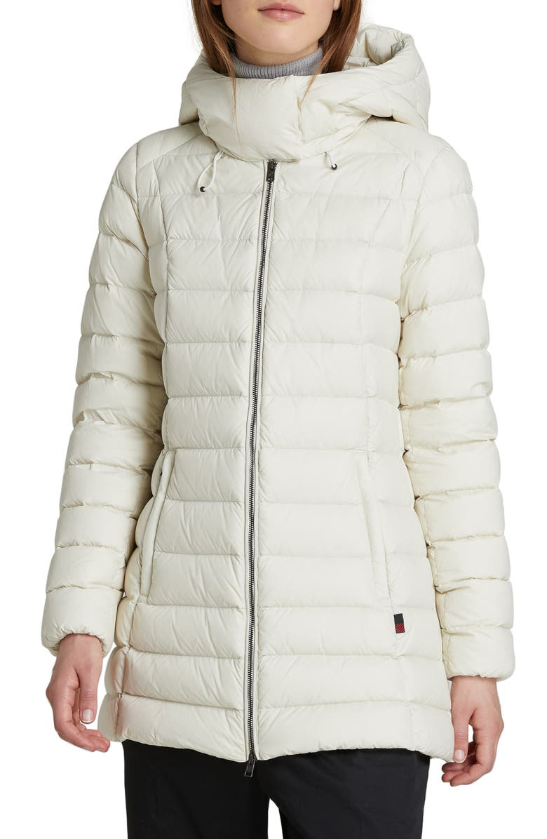 WOOLRICH Hooded Puffer Coat, Main, color, WHITE STONE