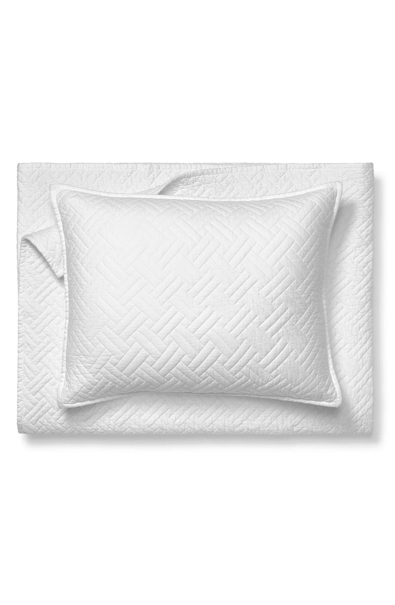 BOLL & BRANCH Heritage Organic Cotton Quilt & Sham Set, Main, color, WHITE